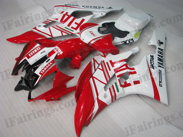 YZF-R6 2006 2007 Fiat fairings, 2006 2007 R6 Fiat decals.