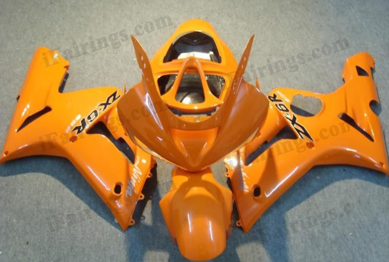 2003 2004 Kawasaki ZX6R Ninja yellow fairing kits.