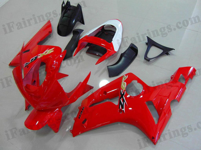2003 2004 ZX6R 636 candy red fairings