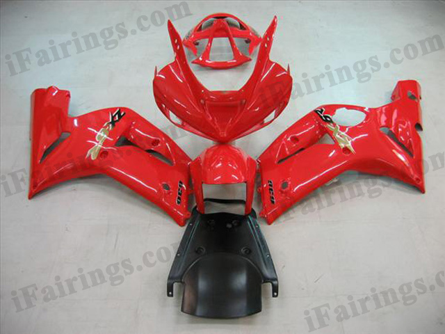 2003 2004 ZX6R 636 oem matched red fairing kits