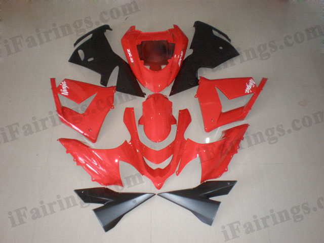 2004 2005 ZX10R oem color red and black fairing kits