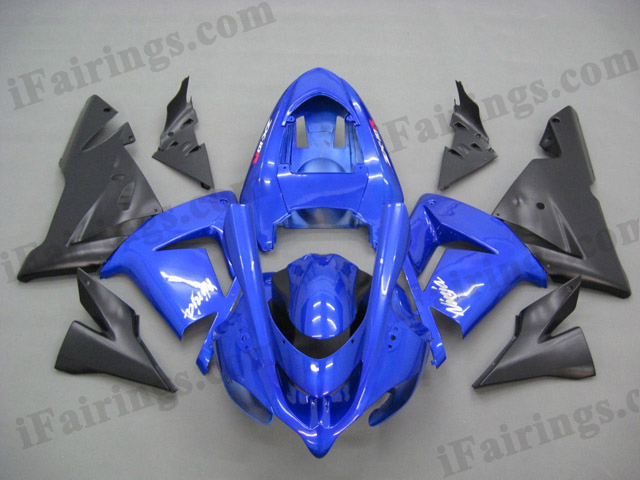 2004 2005 ZX10R candy blue and matt black fairings