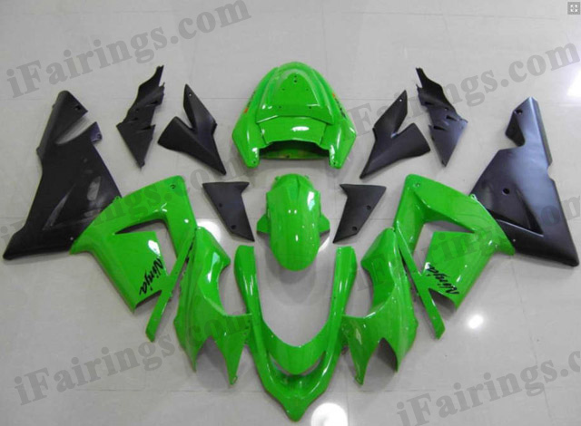 2004 2005 ZX10R lime green and black fairings