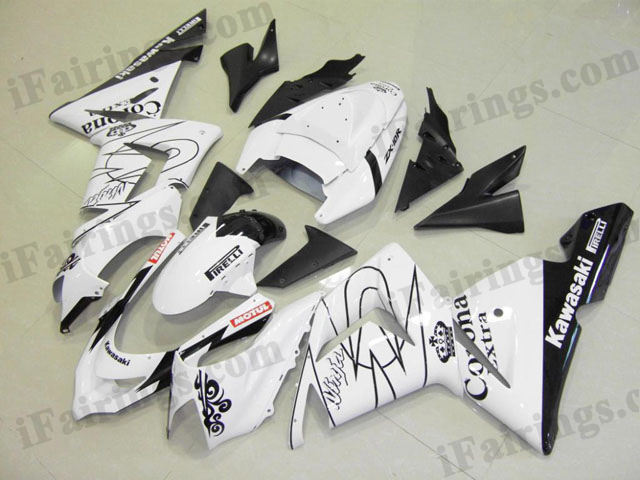2004 2005 ZX10R white corona fairing kits
