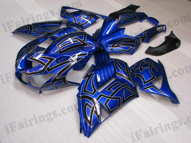2006 2007 2008 2009 2010 2011 Kawasaki ZX14R blue fairing kits.