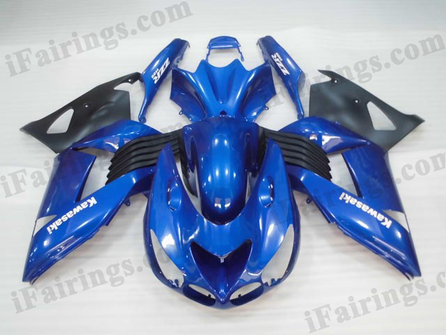 2006 2007 2008 2009 2010 2011 Kawasaki ZX14R blue/black fairing kits.