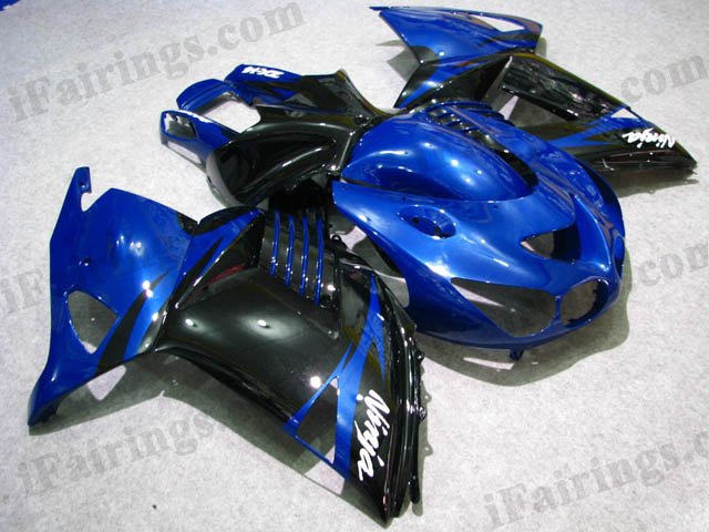 2006 2007 2008 2009 2010 2011 ZX14R blue and black fairing kits
