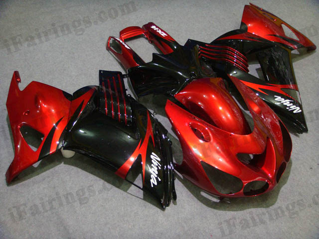 2006 2007 2008 2009 2010 2011 ZX14R red and black fairing kits
