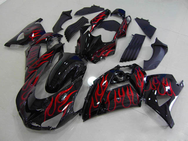 2006 2007 2008 2009 2010 2011 ZX14R red flame fairings