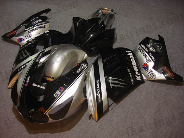 2006 2007 2008 2009 2010 2011 ZX14R silver and black monster fairing kits