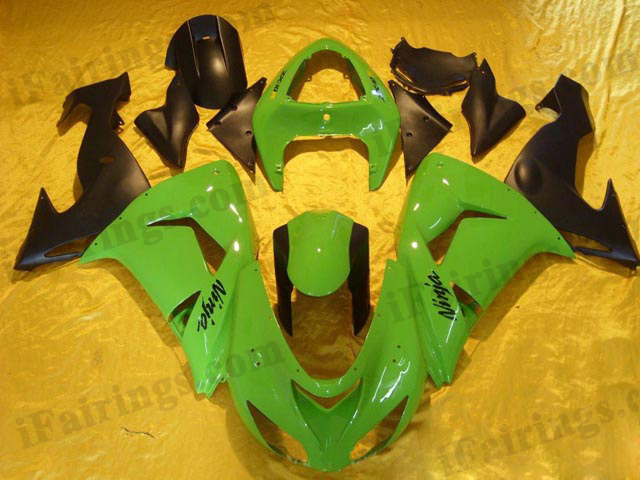 2006 2007 ZX10R green and black fairing kits