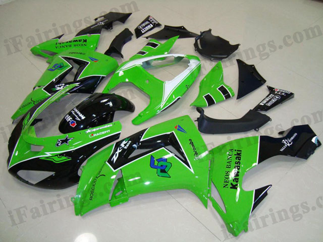 2006 2007 ZX10R green fairings