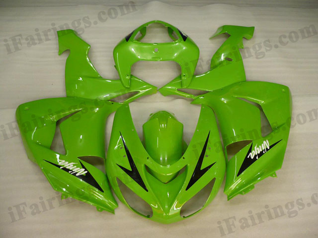 2006 2007 ZX10R lime green fairing kits