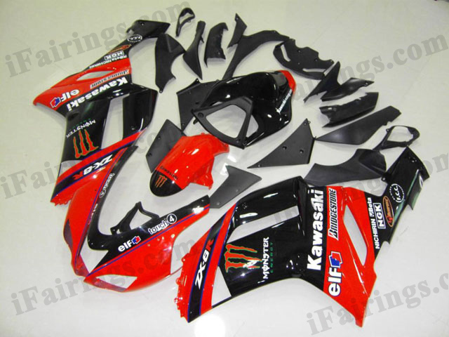 2007 2008 ZX6R 636 red monster fairing kits