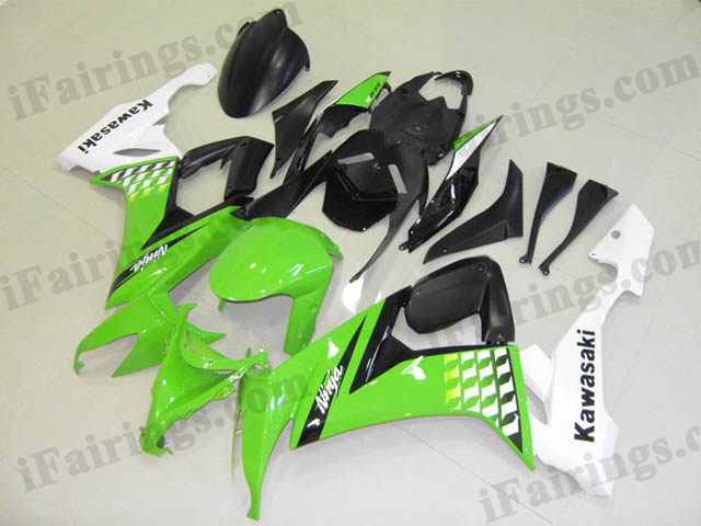2008 2009 2010 ZX10R green and white fairings