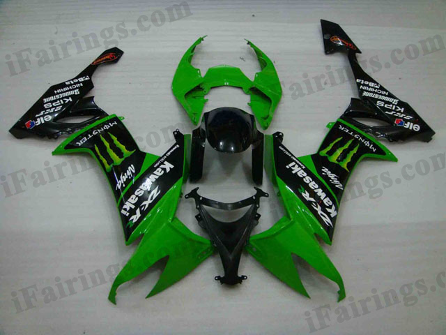 2008 2009 2010 ZX10R green monster fairings