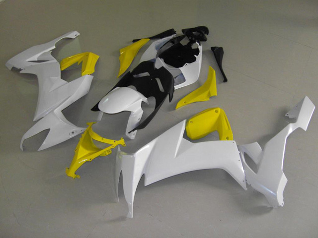 2008 2009 2010 ZX10R white and yellow fairings