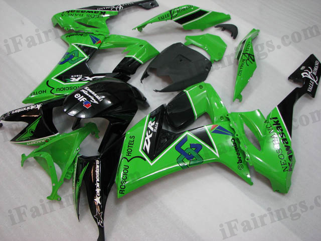 2008 2009 2010 Kawasaki ZX10R green and black fairing sets.