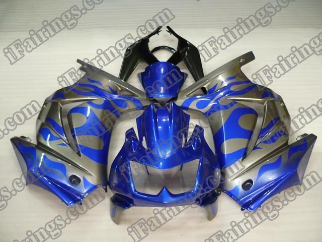 2008 to 2012 Ninja 250R blue and gray fairing kits