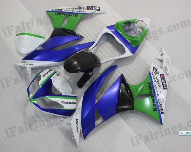 2009 2010 2011 2012 Kawasaki ZX6R ZX636 Ninja customized scheme fairings.
