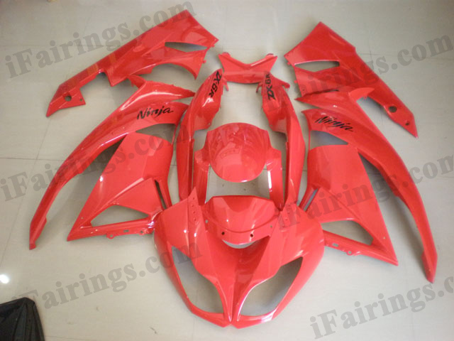 2009 2010 2011 2012 ZX6R 636 oem matched red fairings