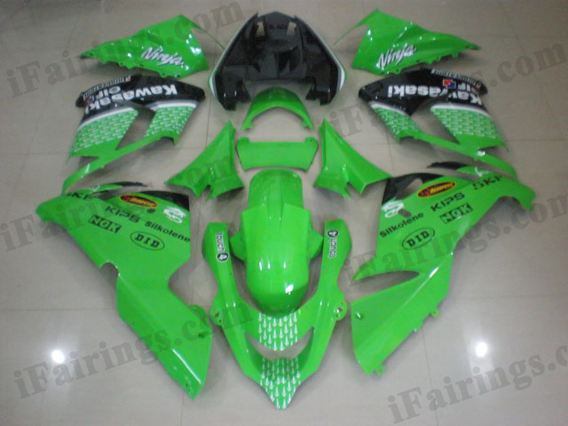 fairings for 2004 2005 ZX10R lime green NAKANO scheme.