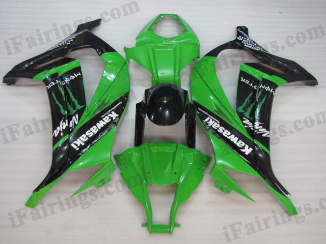Motorcycle fairings/bodywork for 2011 to 2015 Kawasaki Ninja ZX10R monster repllica.