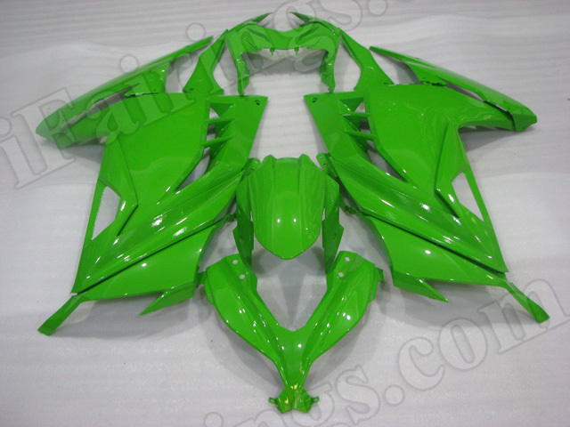 Motorcycle fairings/bodywork for Kawasaki 2013 2014 2015 Ninja 300 lime green.