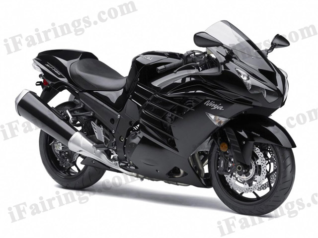 Motorcycle fairings/bodywork for Kawasaki Ninja ZX14R 2012 to 2015 black scheme.