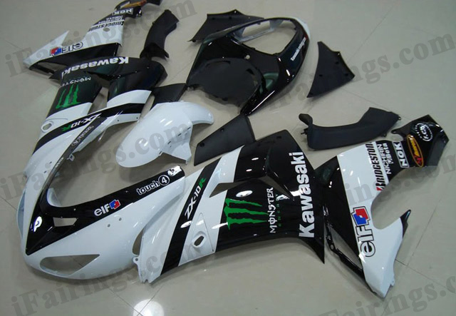 ZX10R 2006 2007 Monster fairings, 2006 2007 ZX10R monster symbol.