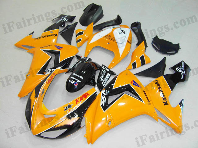 ZX10R 2006 2007 yellow and black fairings, 2006 2007 ZX10R