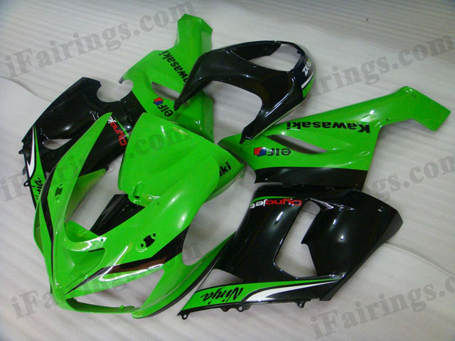 ZX6R 636 2005 2006 green/black fairings, 2005 2006 ZX6R body kits.