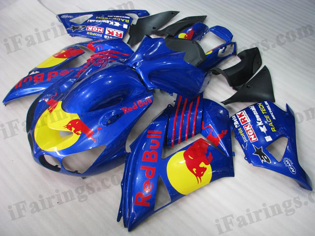 ZX14R 2006 2007 2008 2009 2010 2011 red bull fairings.