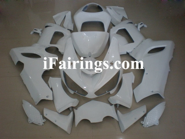 ZX6R 636 2005 2006 pearl white fairings, 2005 2006 ZX6R pictures.