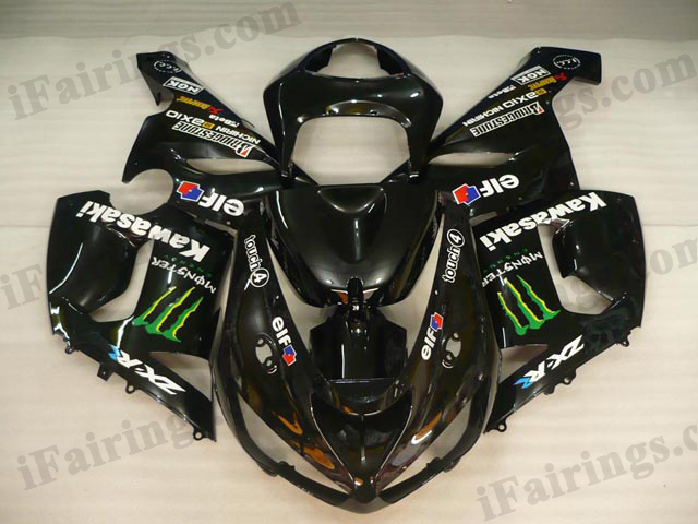 ZX6R 636 2005 2006 Monster fairings, 2005 2006 ZX6R carena.