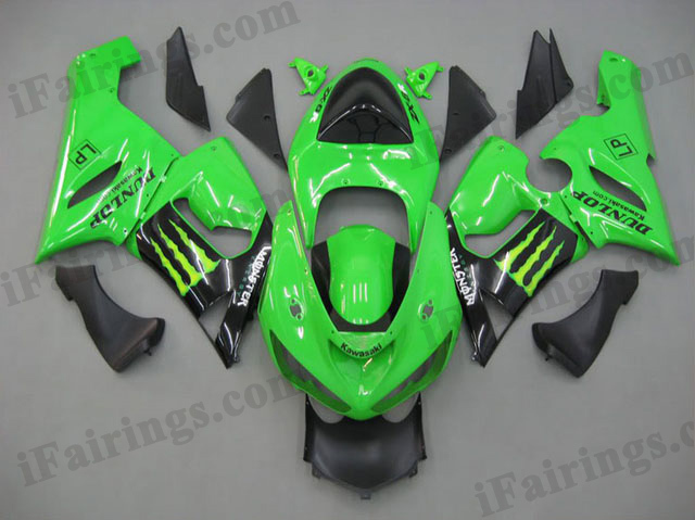 ZX6R 636 2005 2006 Monster fairings, 2005 2006 ZX6R Monster scheme..