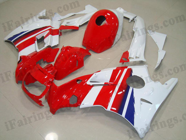 1995 1996 Honda CBR600 F3 red and white fairing sets.