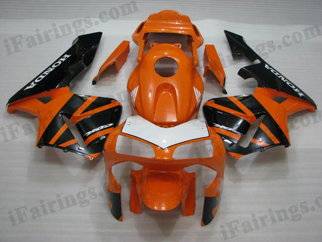2003 2004 Honda CBR600RR orange and black fairing kits