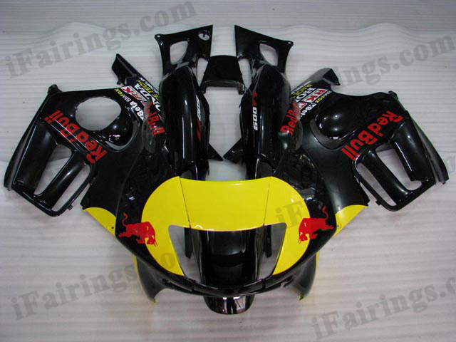 1997 1998 CBR600 black red bull fairing kits.