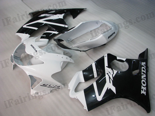 1999 2000 CBR600 F4 white and black fairings.