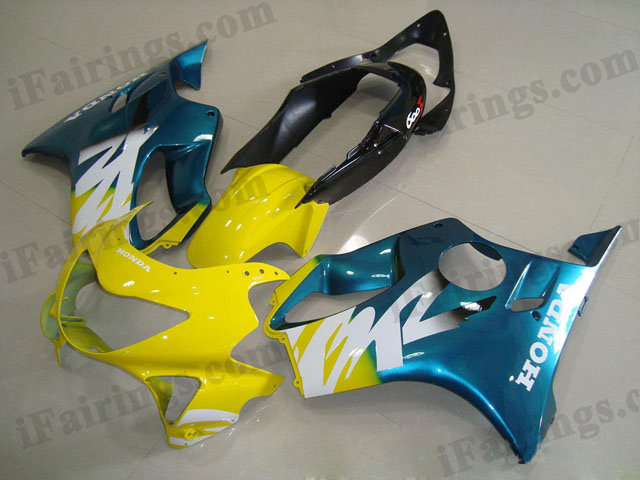 1999 2000 CBR600 yellow and blue fairings