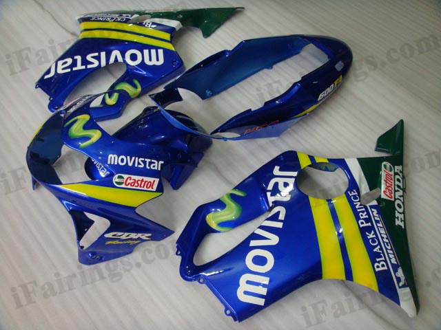 1999 2000 Honda CBR600 F4 Movistar fairing kits.
