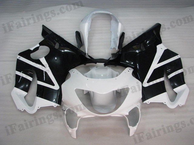 1999 2000 Honda CBR600 F4 white and black fairing kits.