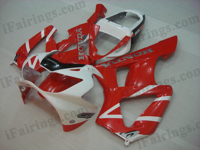 2000 2001 Honda CBR929RR red and white fairing kits.