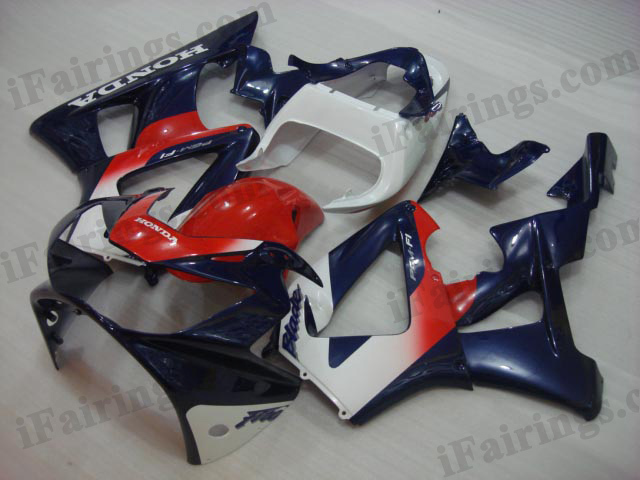 2000 2001 Honda CBR929RR red, white and blue fairing kits.