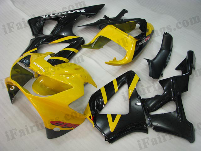 2000 2001 Honda CBR929RR yellow and black fairing sets.