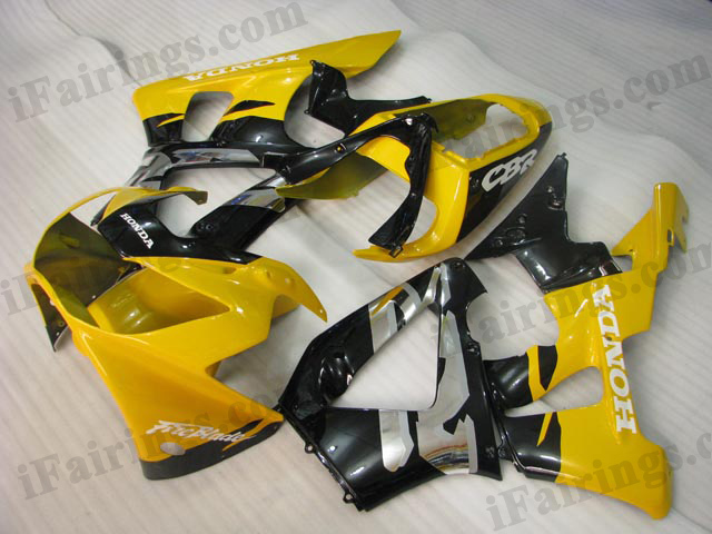 2000 2001 Honda CBR929RR yellow/black fairing sets.