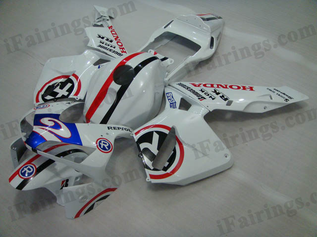 2003 2004 CBR600RR 40th anniversary white fairing kits..