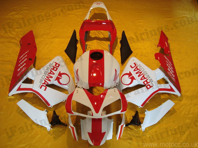 2003 2004 CBR600RR PRAMAC red and white fairings.