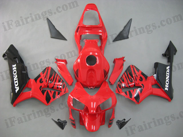2003 2004 CBR600RR red and black fairing sets.
